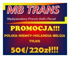 50€/220zł Busy Polska-Niemcy-Holandia-Belgia